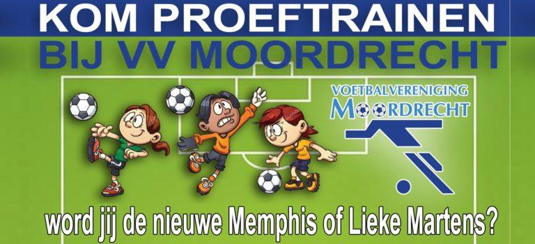 Vrijblijvend proeftrainen bij VV Moordrecht