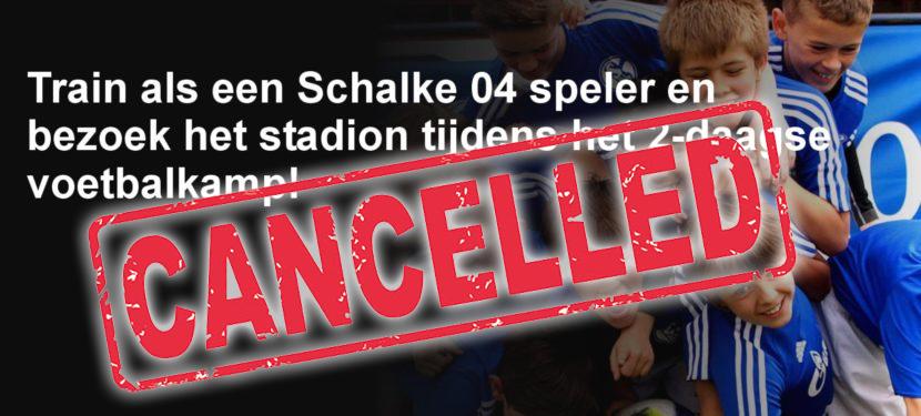 Schalke auf Tournee voetbaldagen GAAN NIET DOOR!