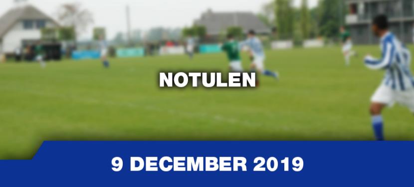 Notulen 9 december 2019