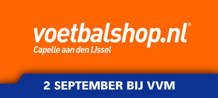 Voetbalshop.nl (voorheen 100% Voetbal) woensdag 2 september bij VVM