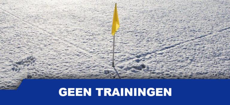 Trainingen komen te vervallen.