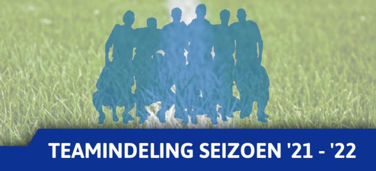 Teamindeling (voorlopig) jeugd seizoen 2021 – 2022